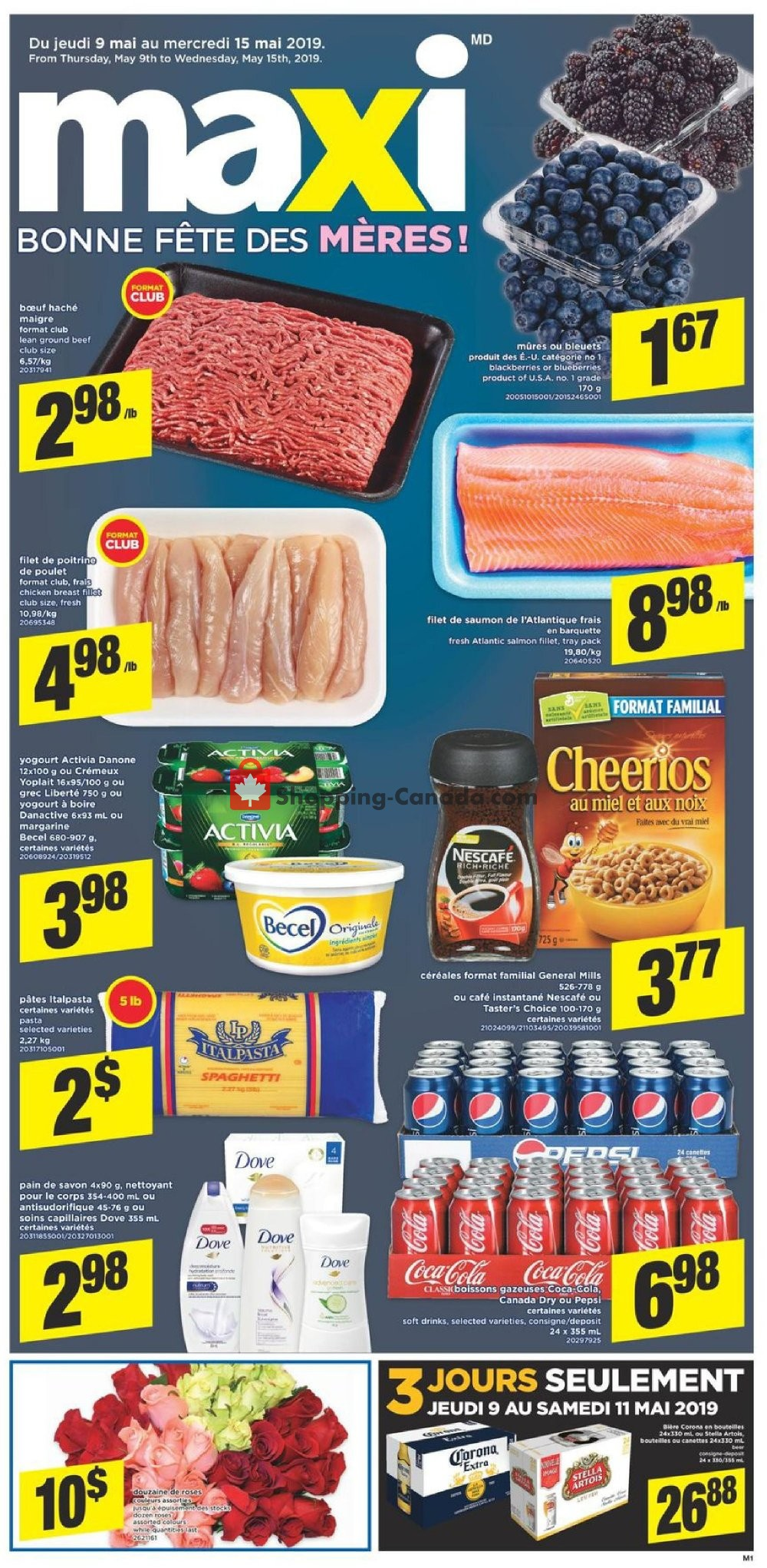 Flyer Maxi Canada - from Thursday May 9, 2019 to Wednesday May 15, 2019