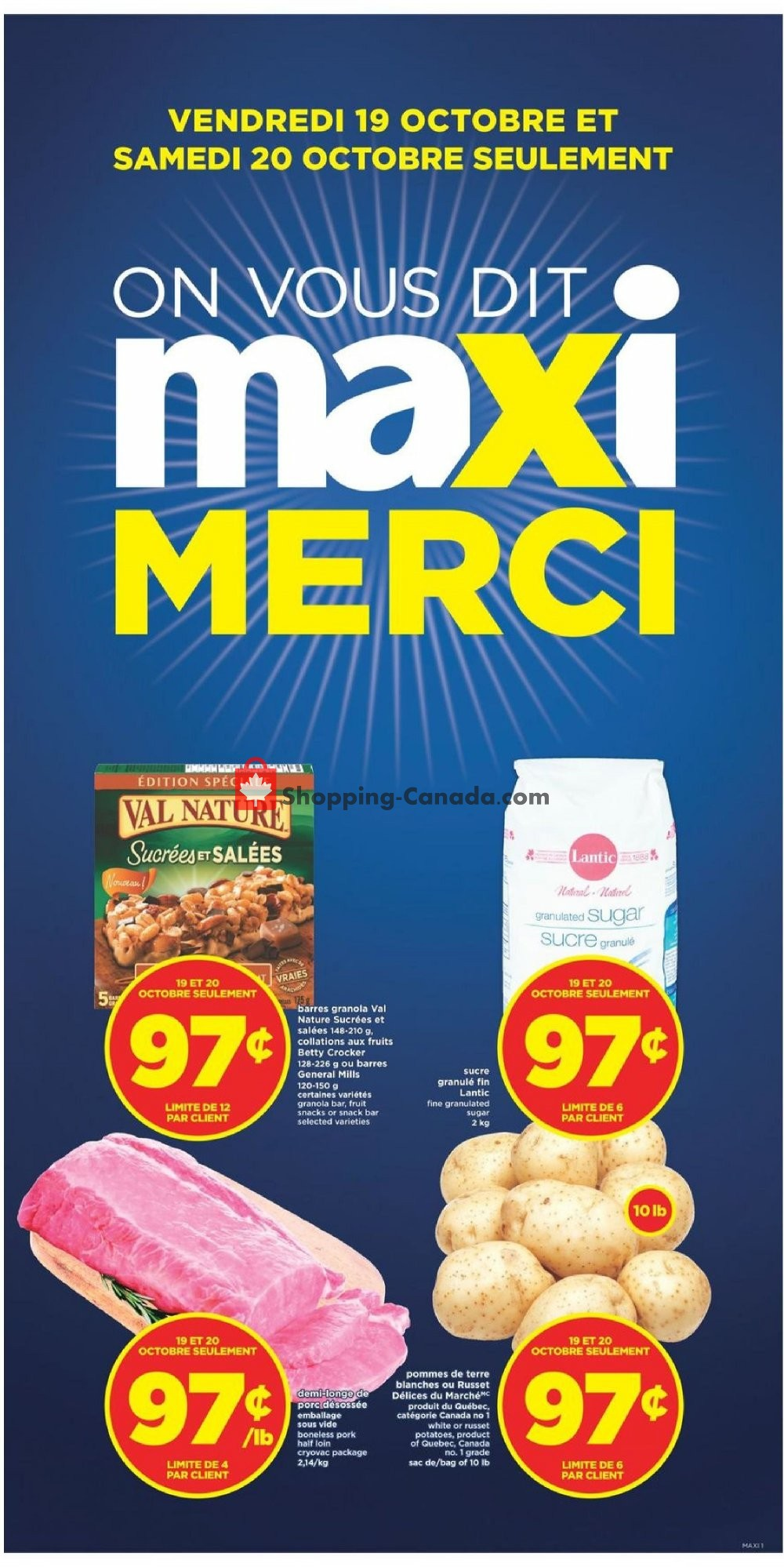 Flyer Maxi Canada - from Thursday October 18, 2018 to Wednesday October 24, 2018