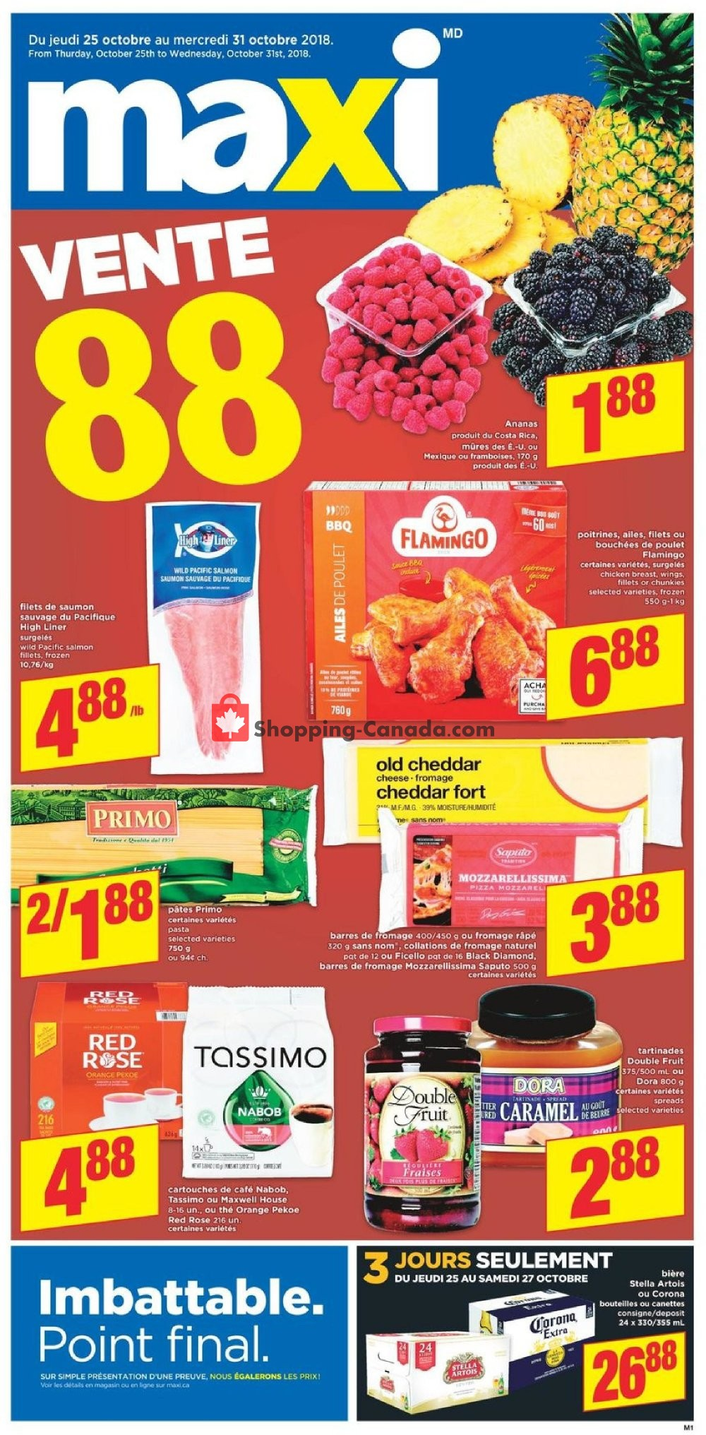 Flyer Maxi Canada - from Thursday October 25, 2018 to Wednesday October 31, 2018