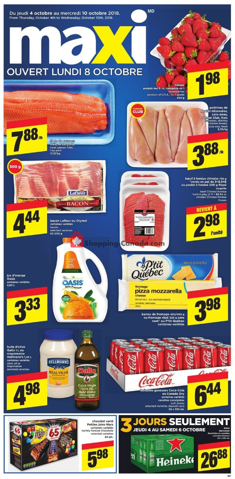 Flyer Maxi Canada - from Thursday October 4, 2018 to Wednesday October 10, 2018