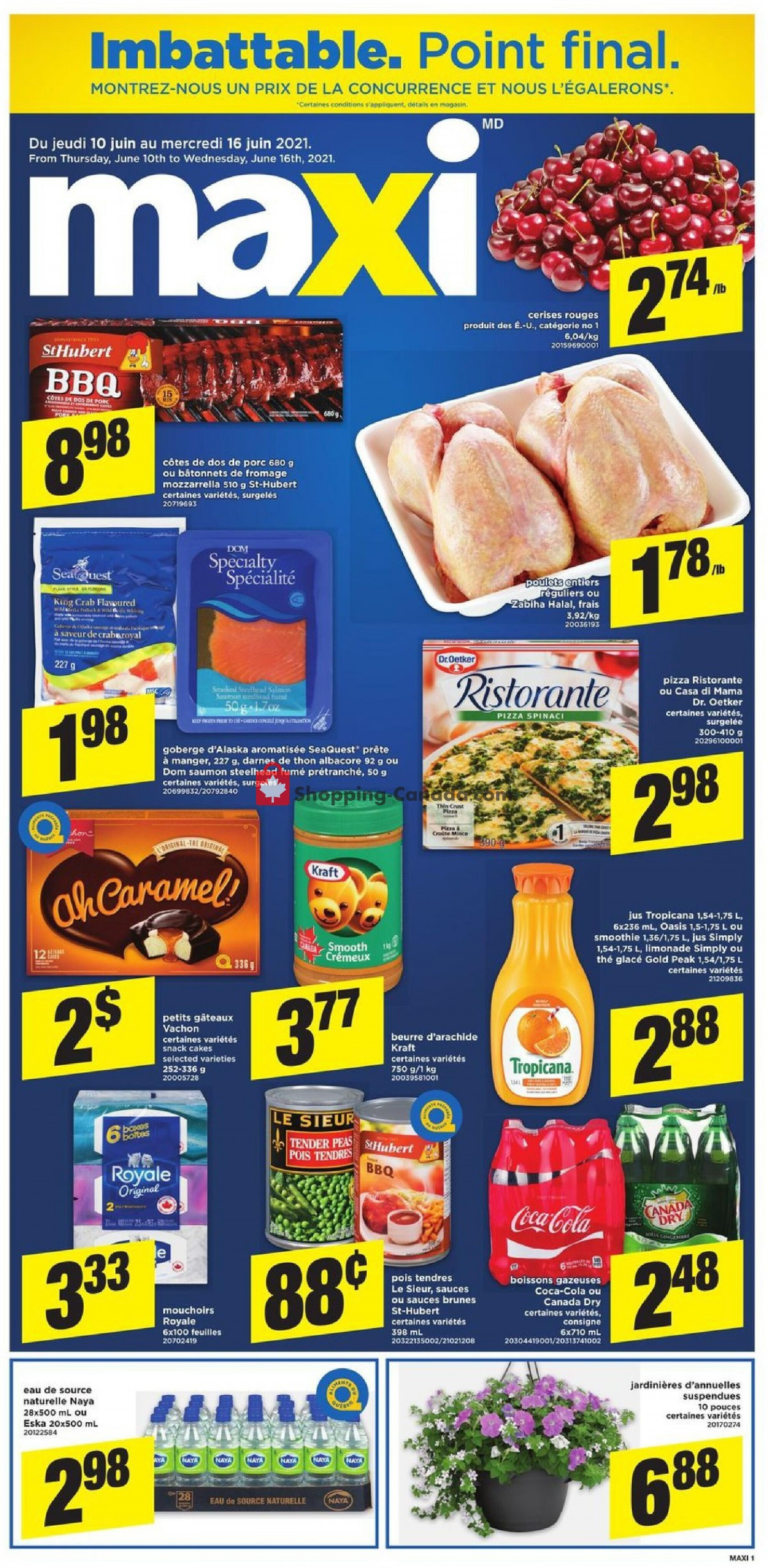 Flyer Maxi Canada - from Thursday June 10, 2021 to Wednesday June 16, 2021