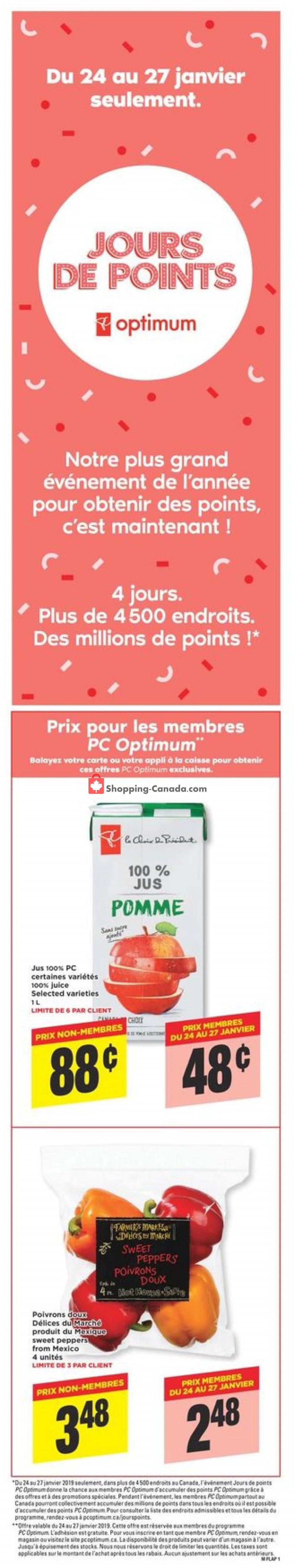 Flyer Maxi Canada - from Thursday January 24, 2019 to Wednesday January 30, 2019