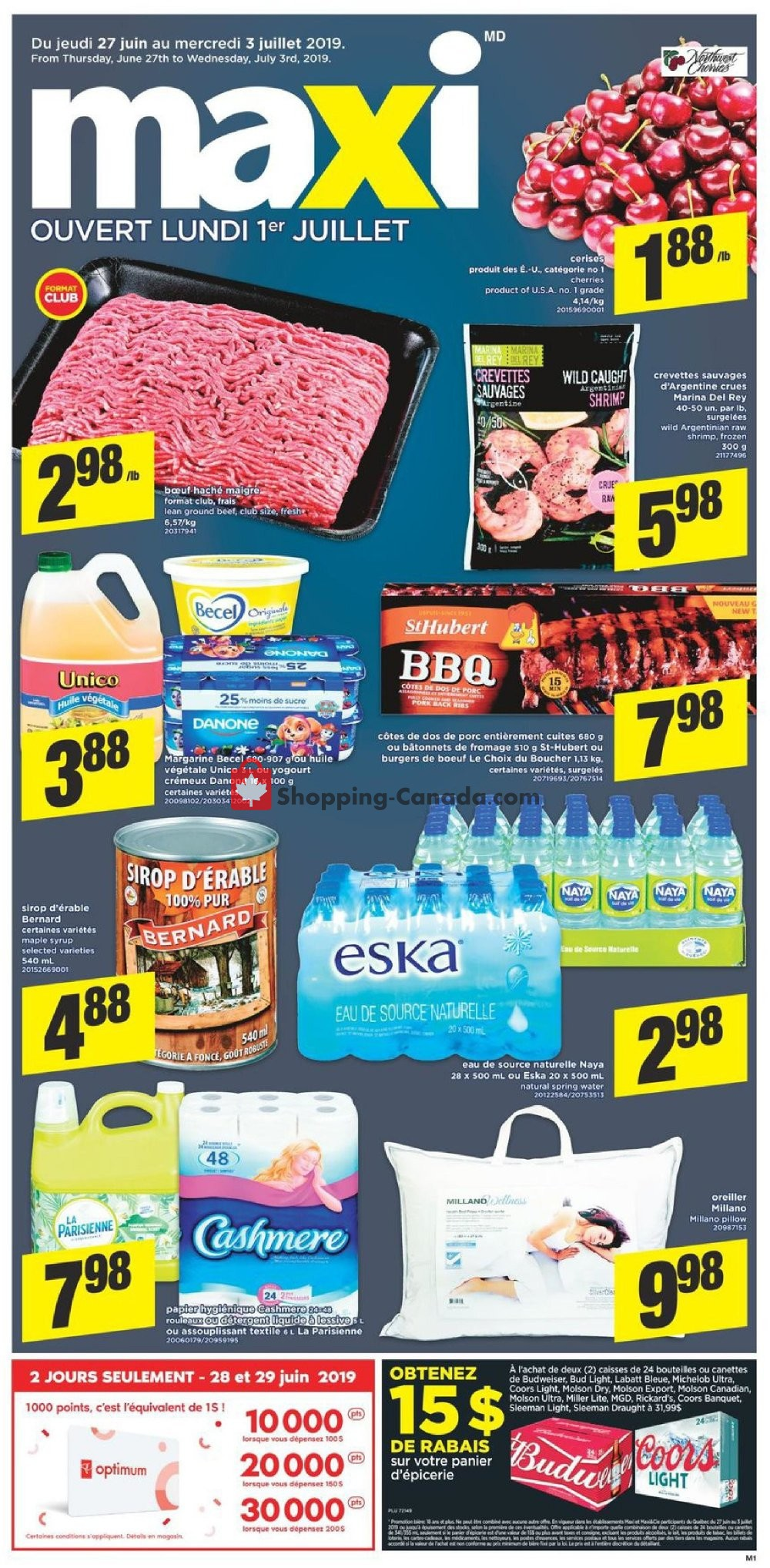 Flyer Maxi Canada - from Thursday June 27, 2019 to Wednesday July 3, 2019