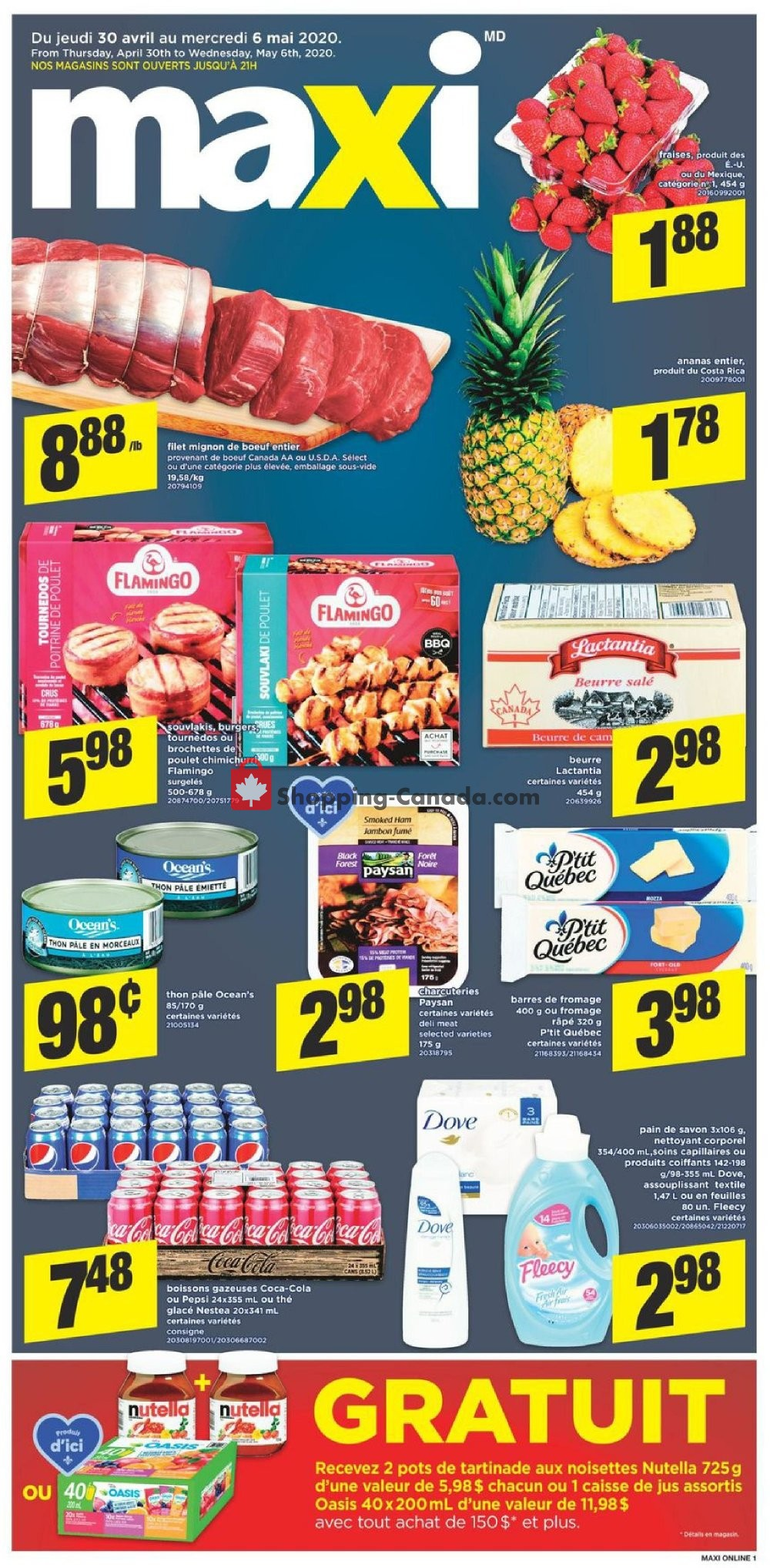 Flyer Maxi Canada - from Thursday April 30, 2020 to Wednesday May 6, 2020