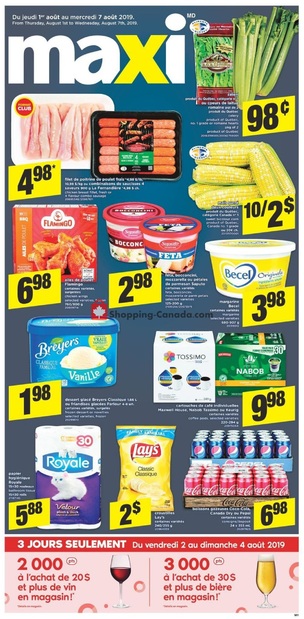 Flyer Maxi Canada - from Thursday August 1, 2019 to Wednesday August 7, 2019