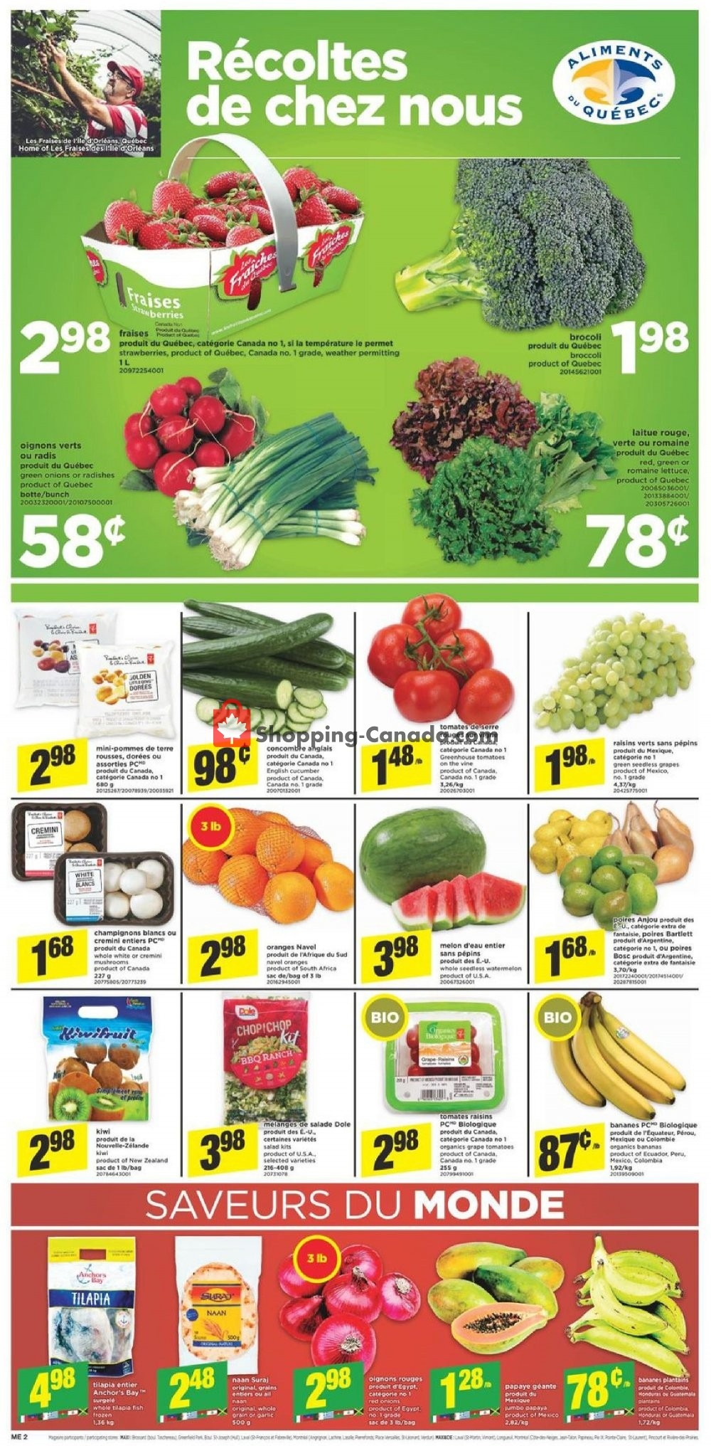 Flyer Maxi Canada - from Thursday July 11, 2019 to Wednesday July 17, 2019