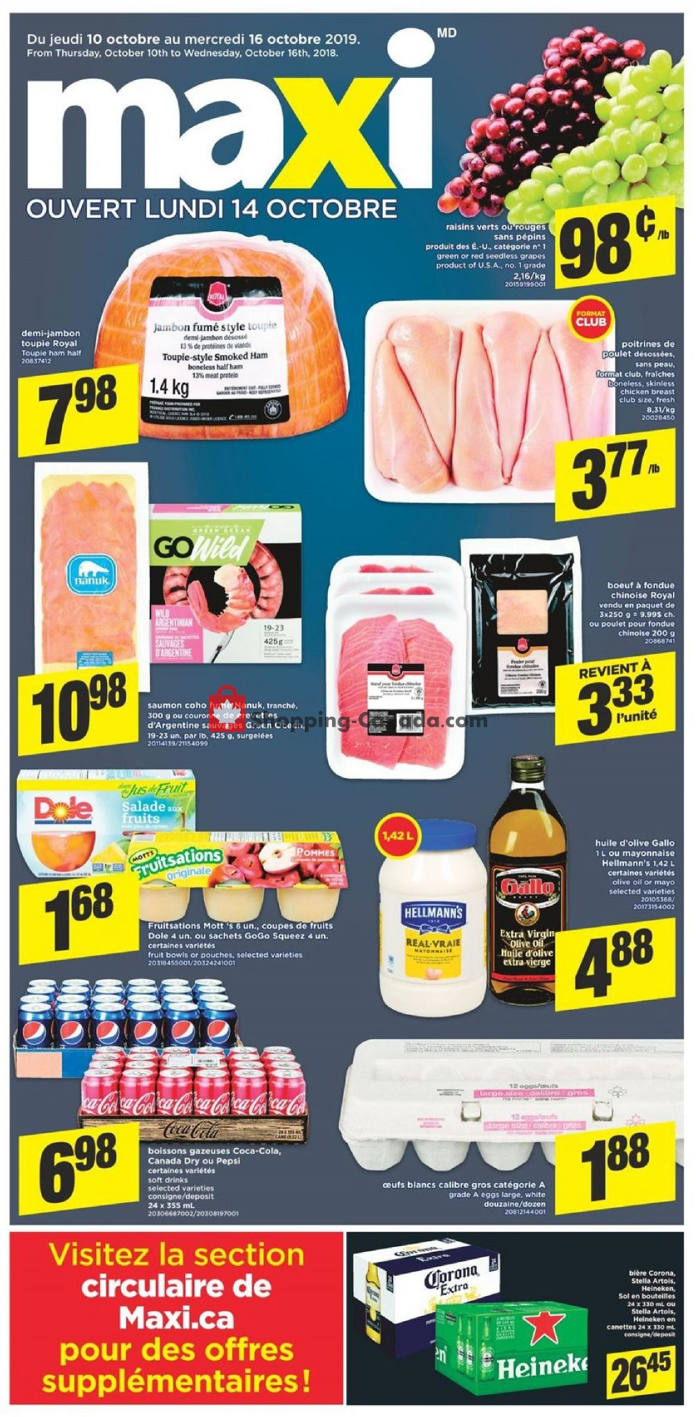 Flyer Maxi Canada - from Thursday October 10, 2019 to Wednesday October 16, 2019