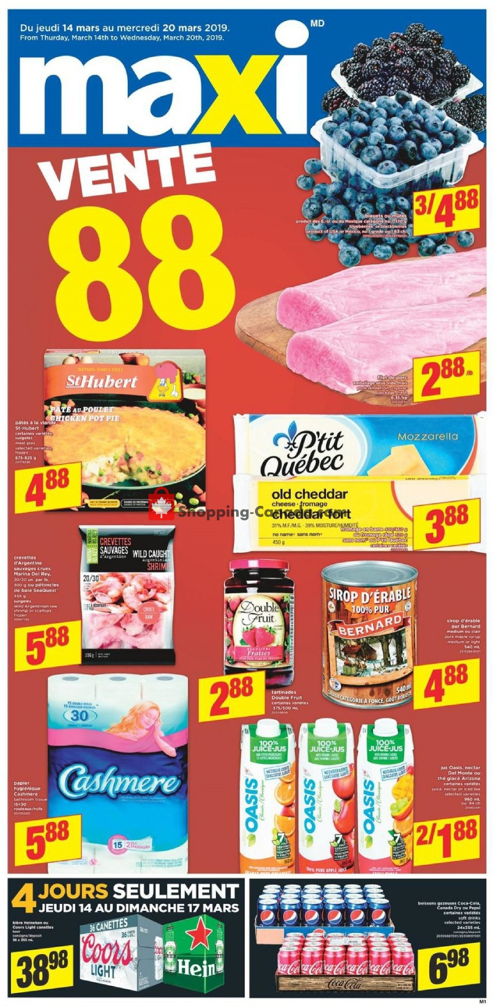Flyer Maxi Canada - from Thursday March 14, 2019 to Wednesday March 20, 2019