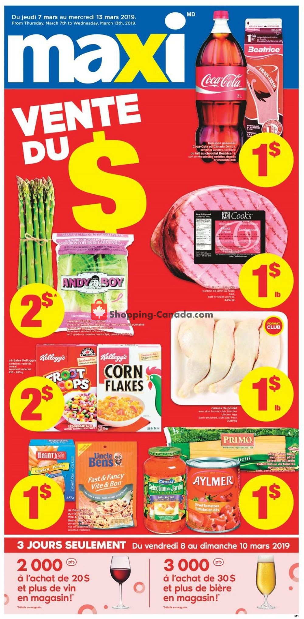 Flyer Maxi Canada - from Thursday March 7, 2019 to Wednesday March 13, 2019