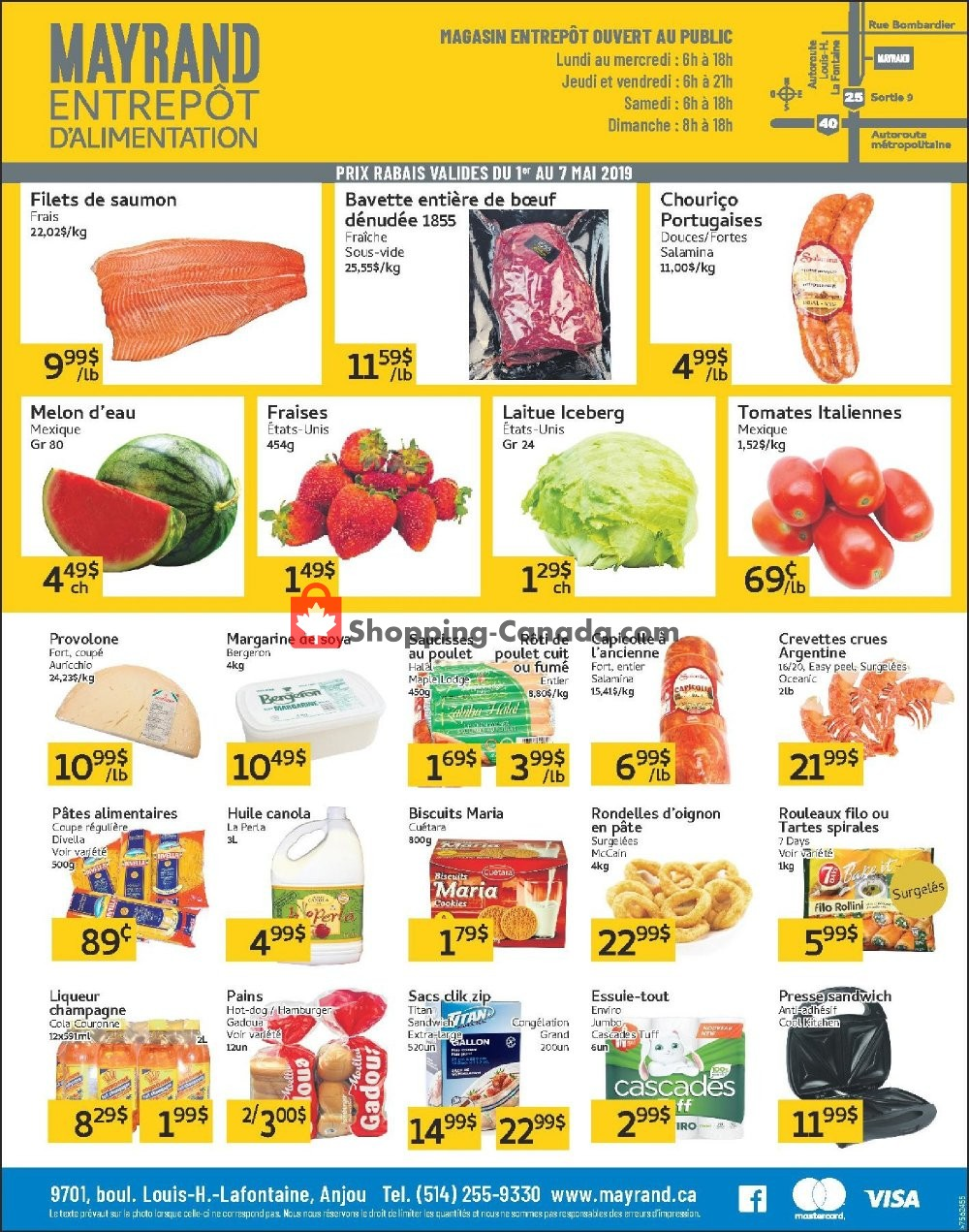 Flyer Mayrand Canada - from Wednesday May 1, 2019 to Tuesday May 7, 2019