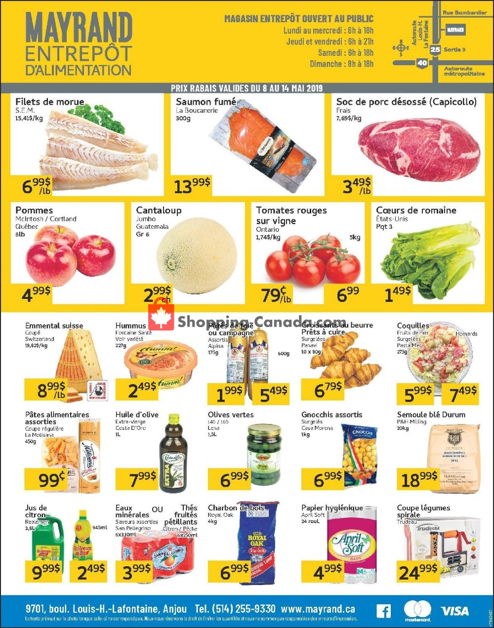 Flyer Mayrand Canada - from Wednesday May 8, 2019 to Tuesday May 14, 2019