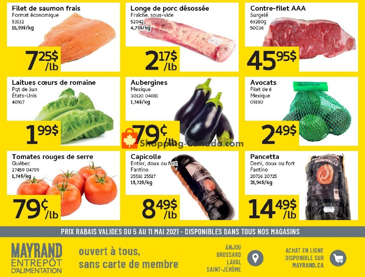 Flyer Mayrand Canada - from Wednesday May 5, 2021 to Tuesday May 11, 2021