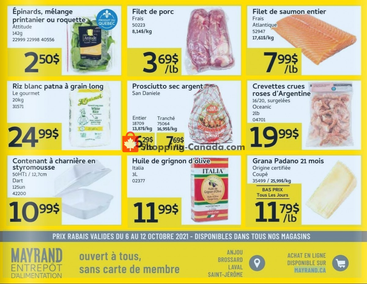 Flyer Mayrand Canada - from Wednesday October 6, 2021 to Tuesday October 12, 2021
