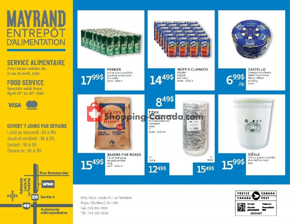 Flyer Mayrand Canada - from Monday April 15, 2019 to Sunday April 28, 2019