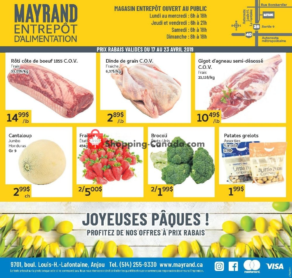 Flyer Mayrand Canada - from Wednesday April 17, 2019 to Tuesday April 23, 2019