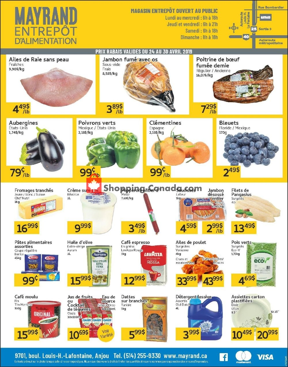 Flyer Mayrand Canada - from Wednesday April 24, 2019 to Tuesday April 30, 2019