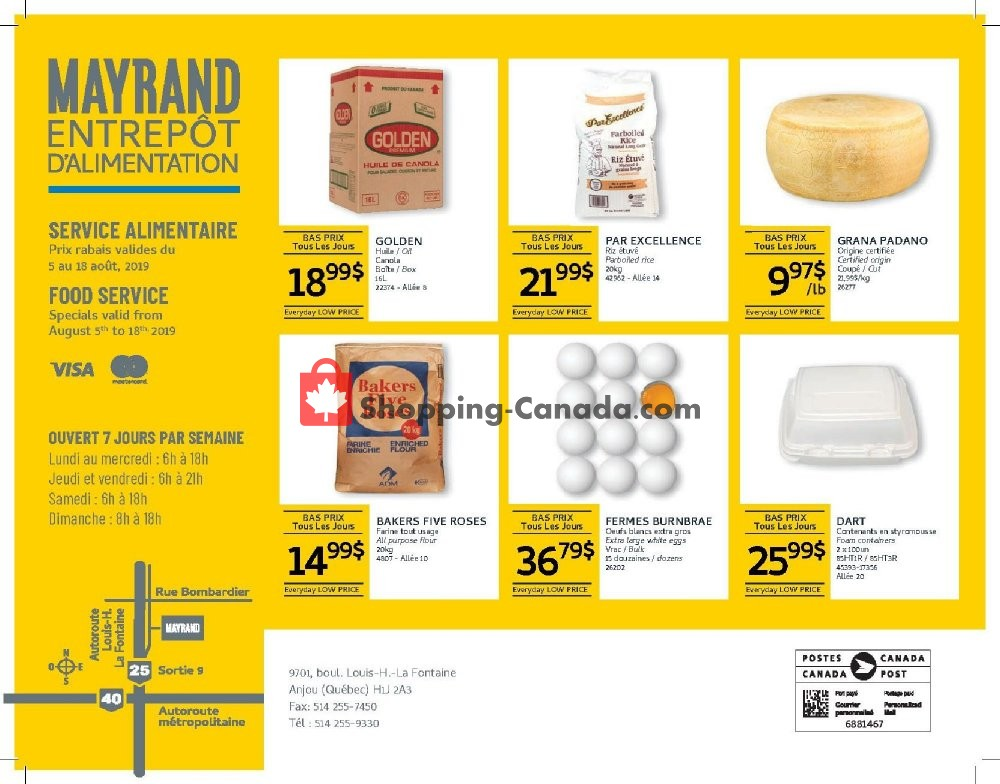Flyer Mayrand Canada - from Monday August 5, 2019 to Sunday August 18, 2019