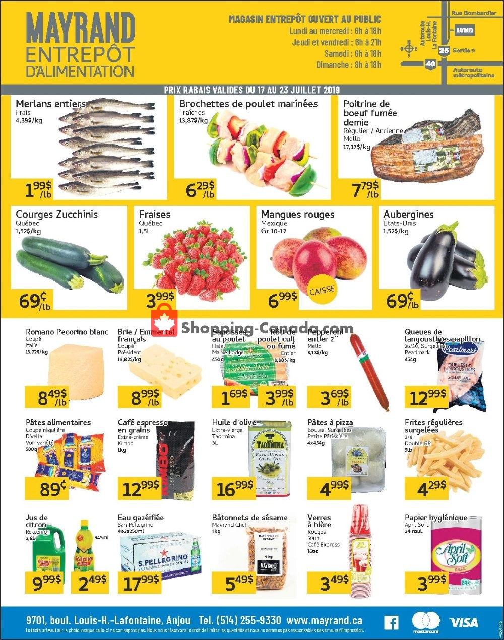 Flyer Mayrand Canada - from Wednesday July 17, 2019 to Tuesday July 23, 2019