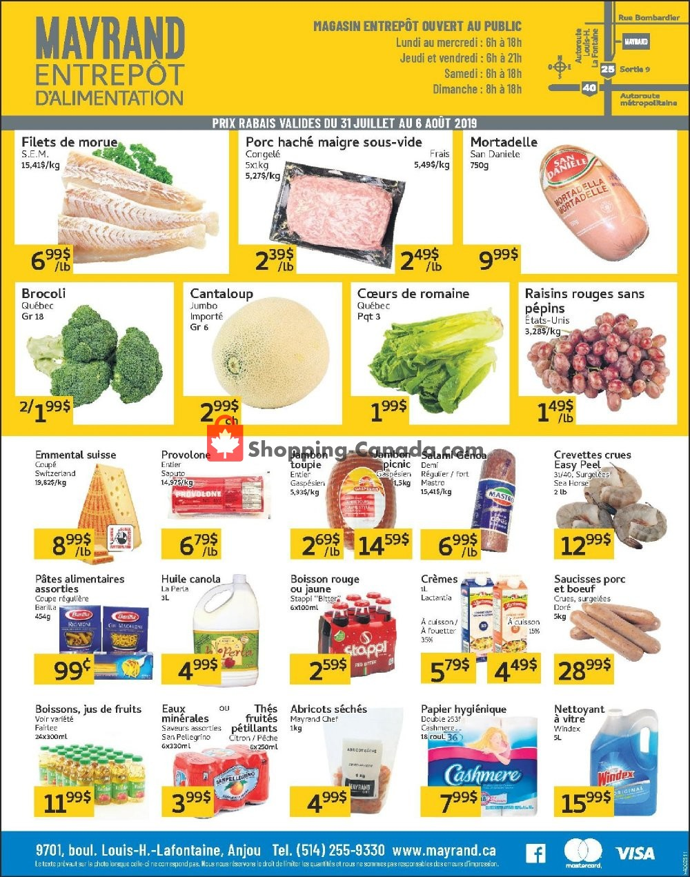 Flyer Mayrand Canada - from Wednesday July 31, 2019 to Tuesday August 6, 2019