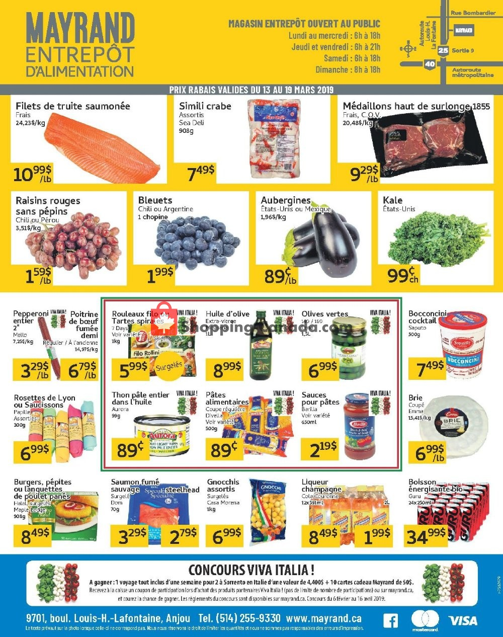 Flyer Mayrand Canada - from Wednesday March 13, 2019 to Tuesday March 19, 2019