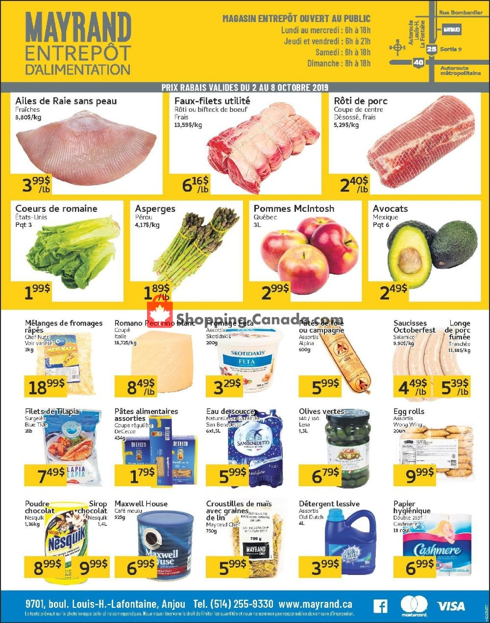 Flyer Mayrand Canada - from Wednesday October 2, 2019 to Tuesday October 8, 2019