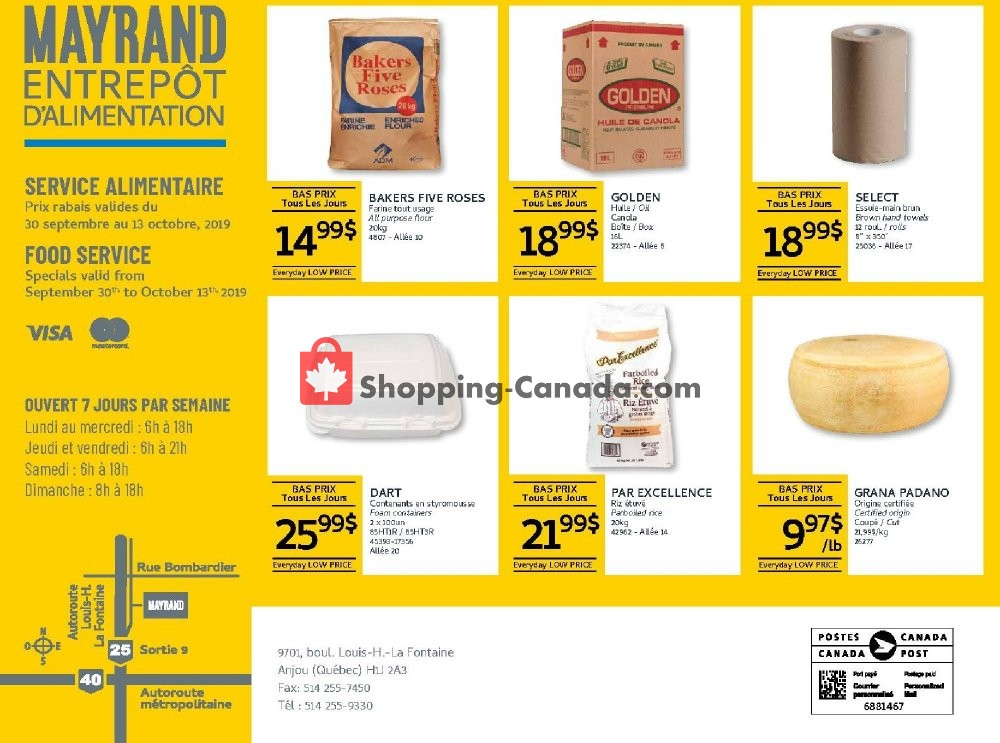 Flyer Mayrand Canada - from Monday September 30, 2019 to Sunday October 13, 2019