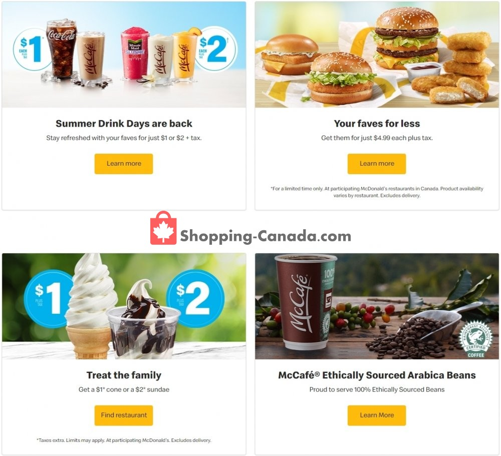 Flyer McDonald's Canada - from Tuesday August 4, 2020 to Monday August 10, 2020