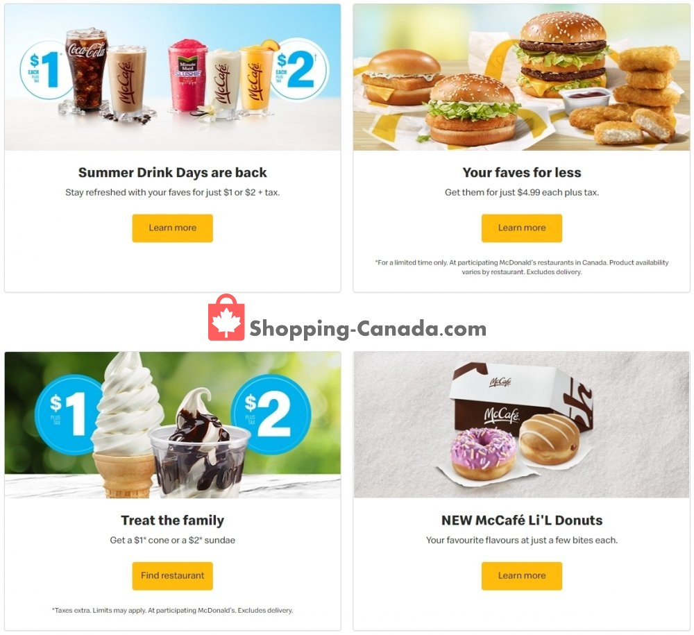 Flyer McDonald's Canada - from Tuesday July 14, 2020 to Monday August 3, 2020