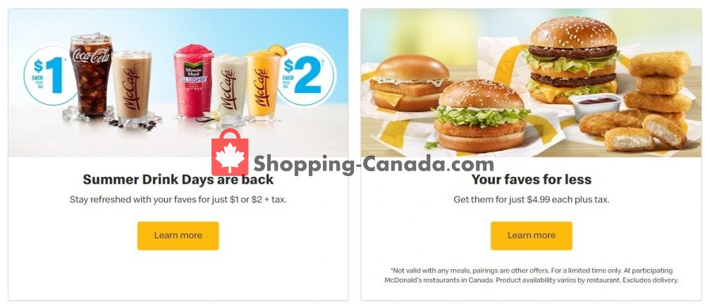 Flyer McDonald's Canada - from Tuesday July 7, 2020 to Monday July 13, 2020
