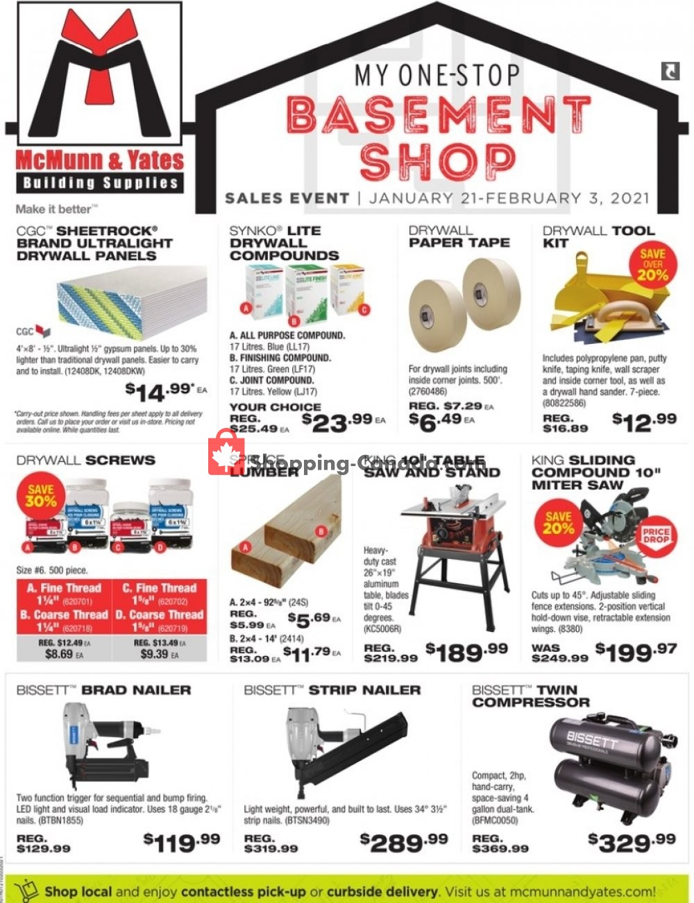 Flyer McMunn & Yates Canada - from Thursday January 21, 2021 to Wednesday February 3, 2021