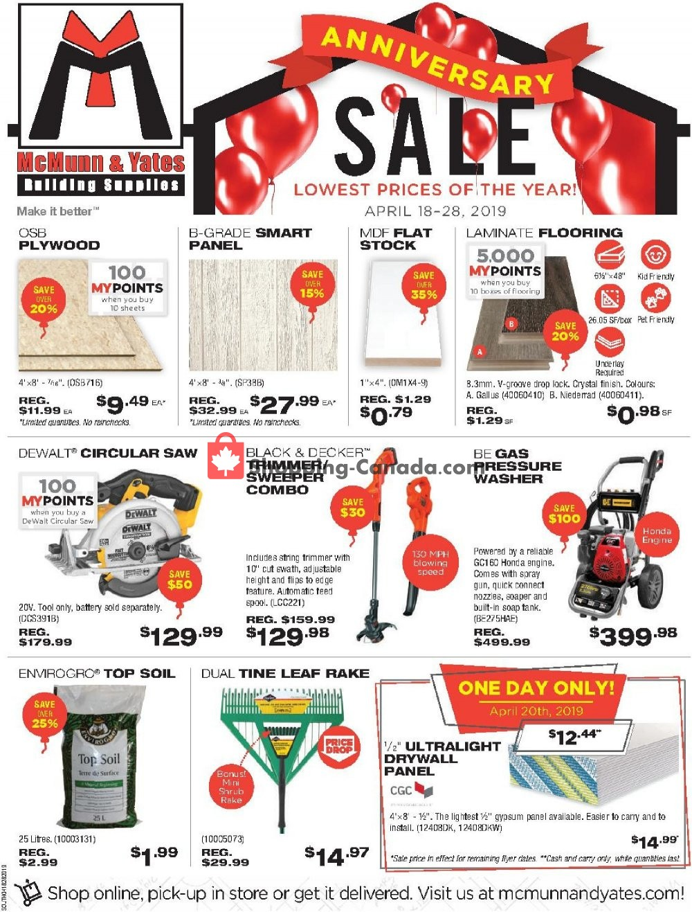 Flyer McMunn & Yates Canada - from Thursday April 18, 2019 to Sunday April 28, 2019