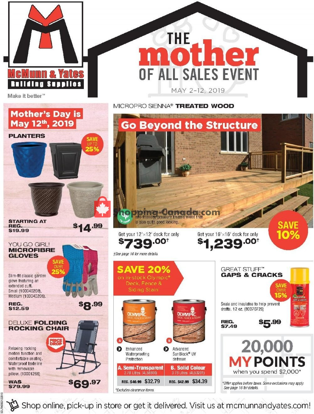 Flyer McMunn & Yates Canada - from Thursday May 2, 2019 to Sunday May 12, 2019