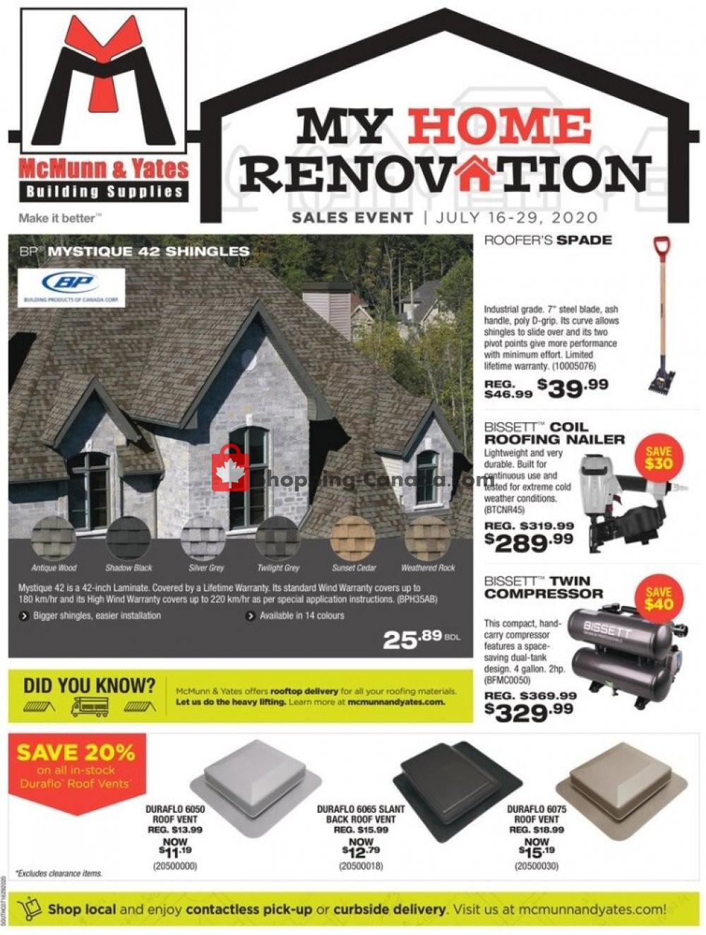 Flyer McMunn & Yates Canada - from Thursday July 16, 2020 to Wednesday July 29, 2020