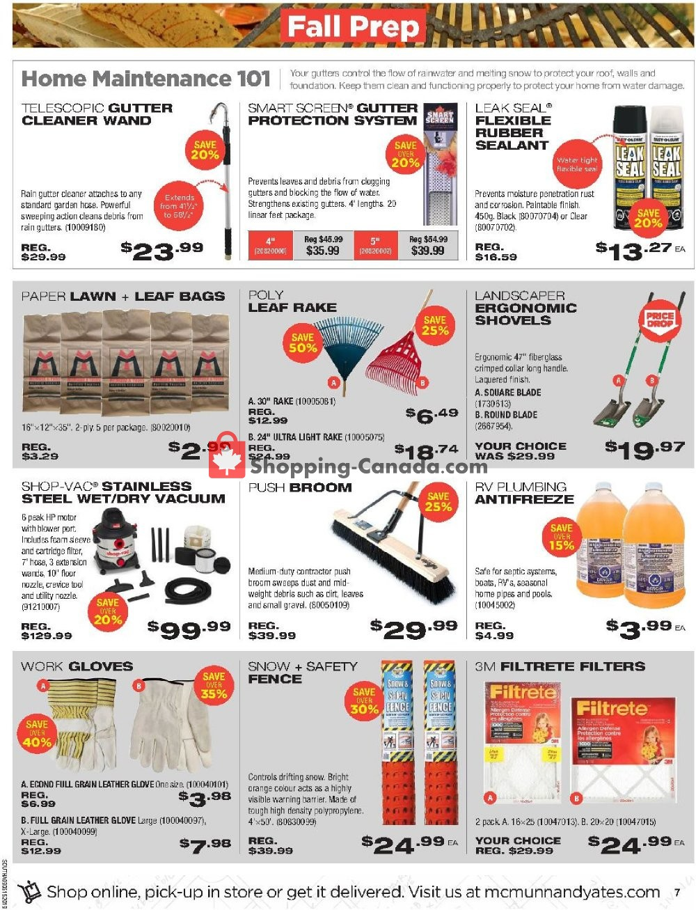 Flyer McMunn & Yates Canada - from Thursday September 5, 2019 to Sunday September 15, 2019