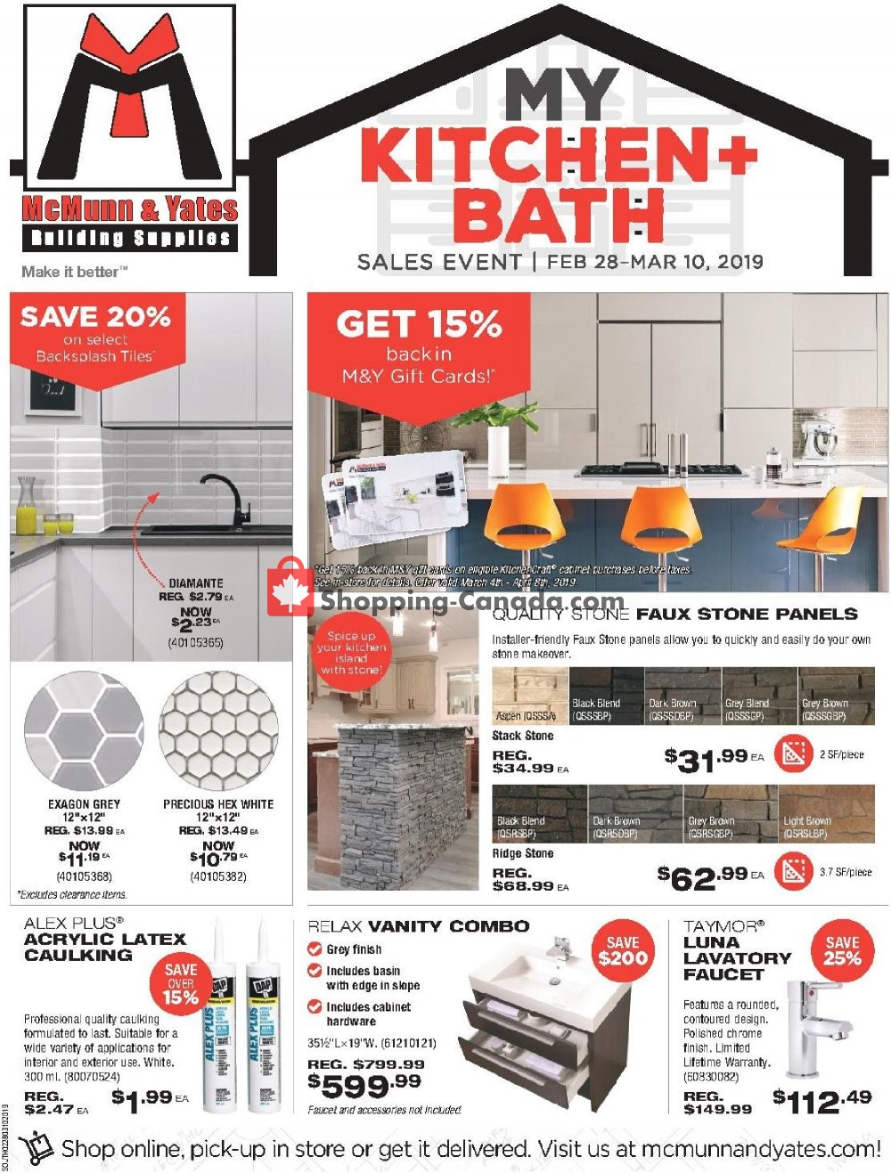 Flyer McMunn & Yates Canada - from Thursday February 28, 2019 to Sunday March 10, 2019