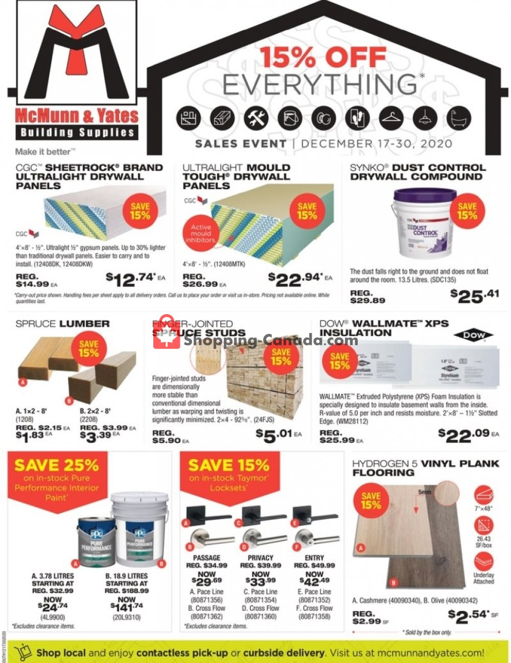 Flyer McMunn & Yates Canada - from Thursday December 17, 2020 to Wednesday December 30, 2020