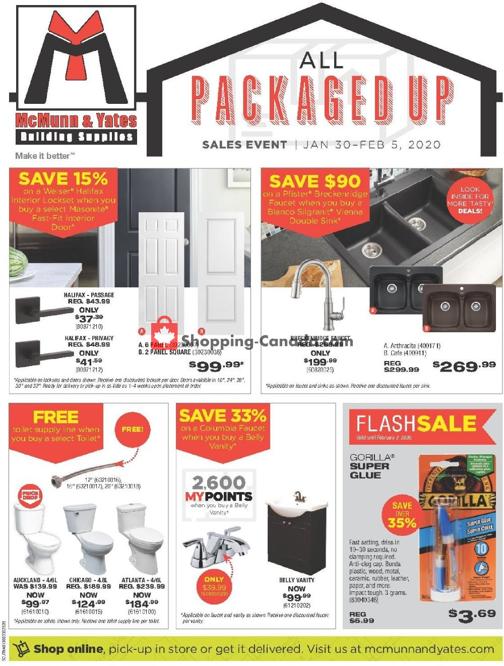 Flyer McMunn & Yates Canada - from Thursday January 30, 2020 to Wednesday February 5, 2020