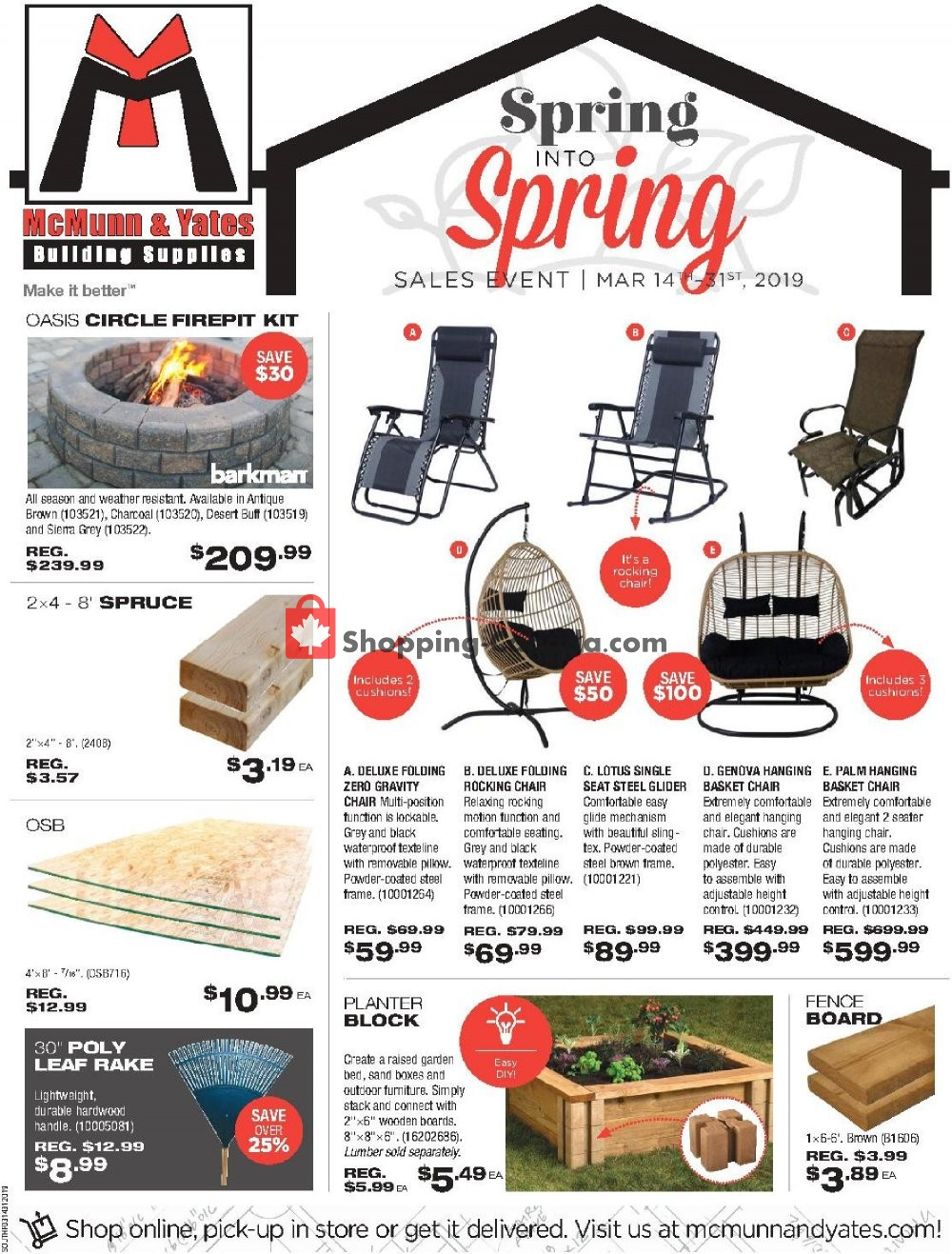 Flyer McMunn & Yates Canada - from Thursday March 14, 2019 to Sunday March 31, 2019