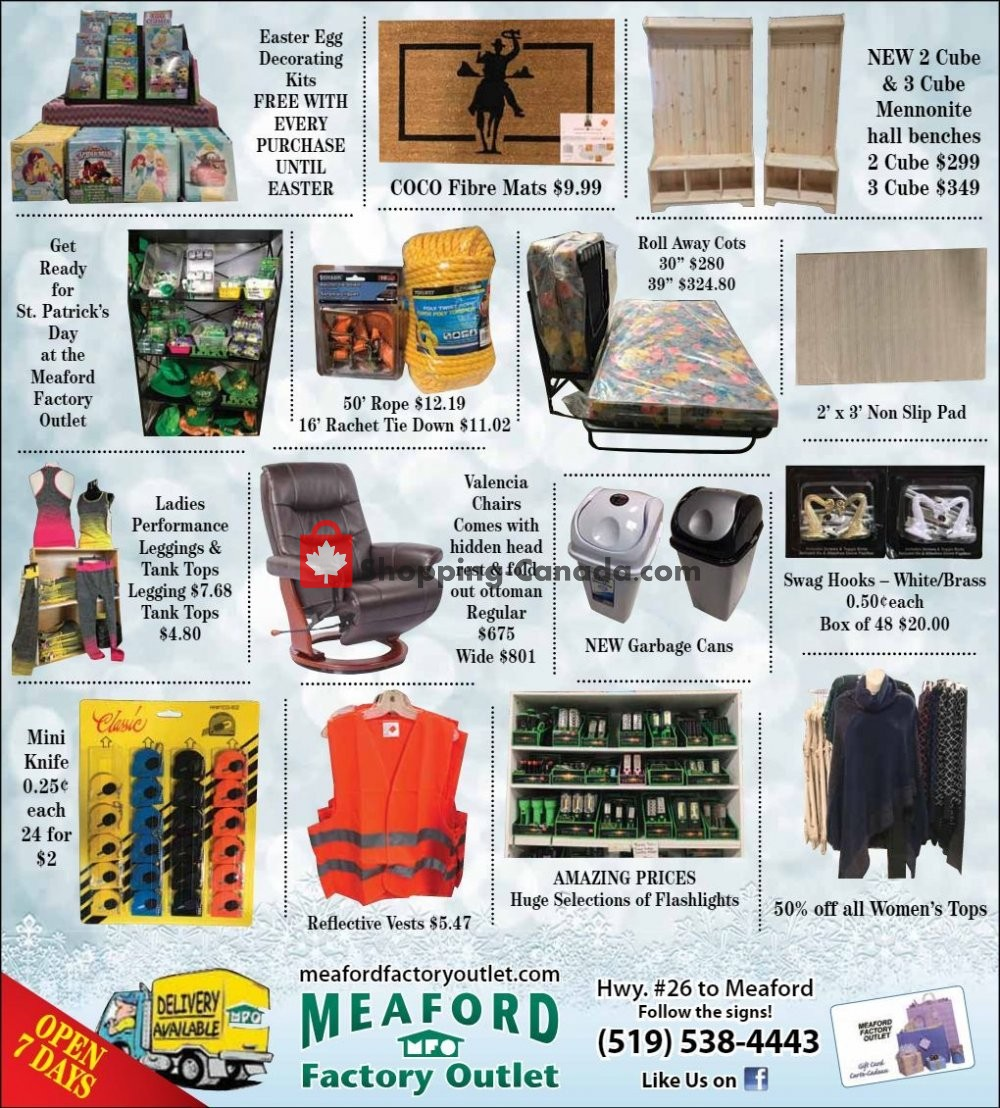 Flyer Meaford Factory Outlet Canada - from Friday February 1, 2019 to Thursday February 28, 2019