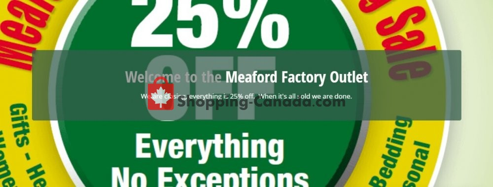 Flyer Meaford Factory Outlet Canada - from Wednesday July 8, 2020 to Tuesday July 14, 2020