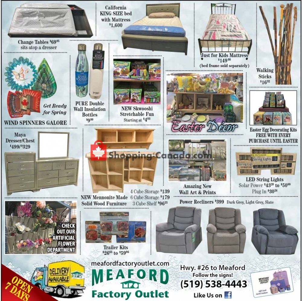 Flyer Meaford Factory Outlet Canada - from Friday March 1, 2019 to Sunday March 31, 2019