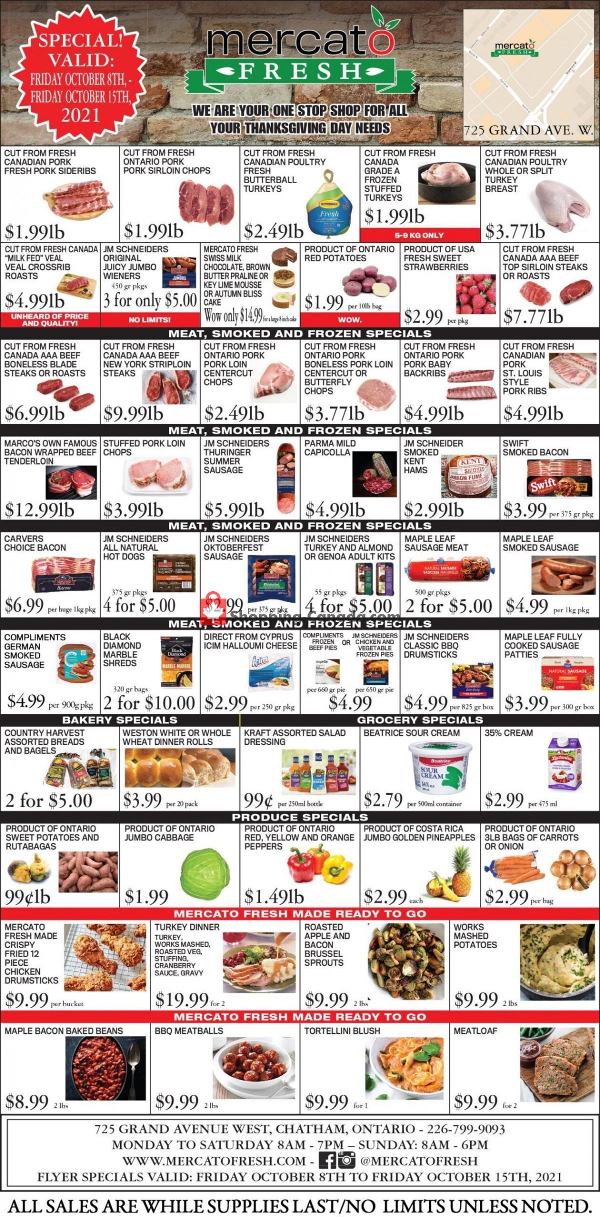 Flyer Mercato Fresh Canada - from Friday October 8, 2021 to Friday October 15, 2021