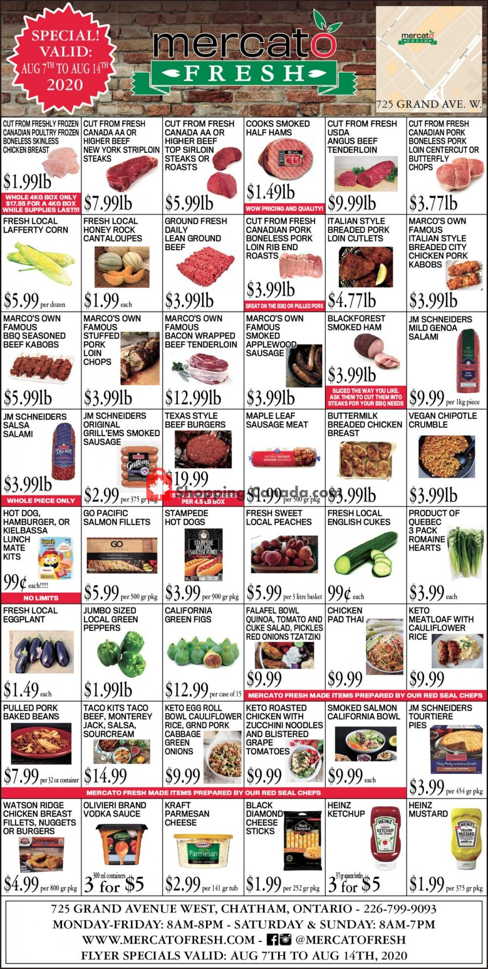 Flyer Mercato Fresh Canada - from Friday August 7, 2020 to Friday August 14, 2020