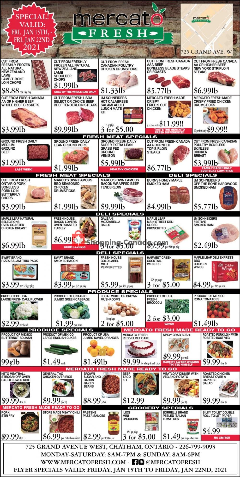 Flyer Mercato Fresh Canada - from Friday January 15, 2021 to Friday January 22, 2021