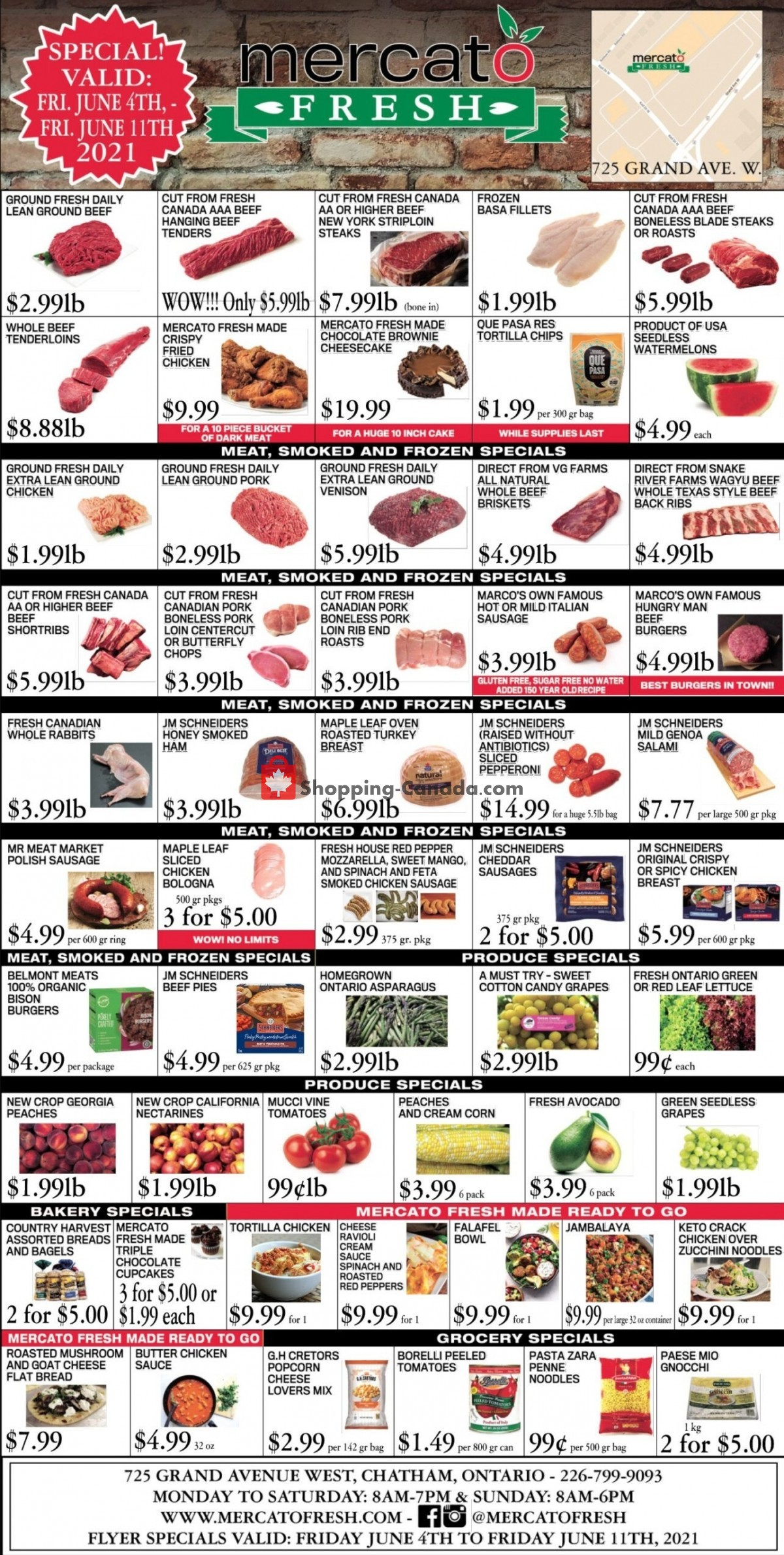 Flyer Mercato Fresh Canada - from Friday June 4, 2021 to Friday June 11, 2021