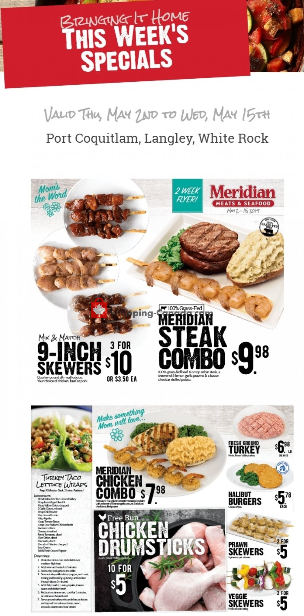 Flyer Meridian Meats & Meridian Farm Market Canada - from Thursday May 2, 2019 to Wednesday May 15, 2019