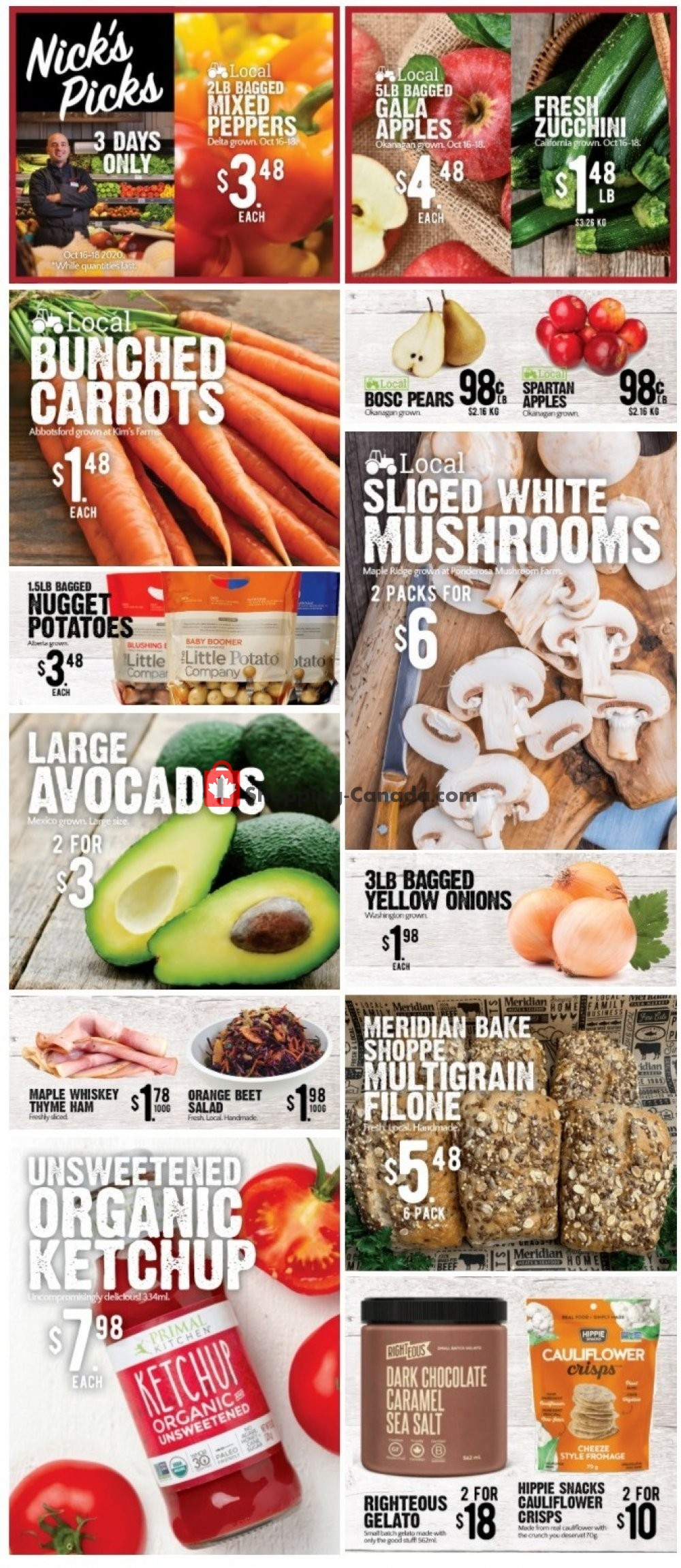 Flyer Meridian Meats & Meridian Farm Market Canada - from Thursday October 15, 2020 to Wednesday October 21, 2020