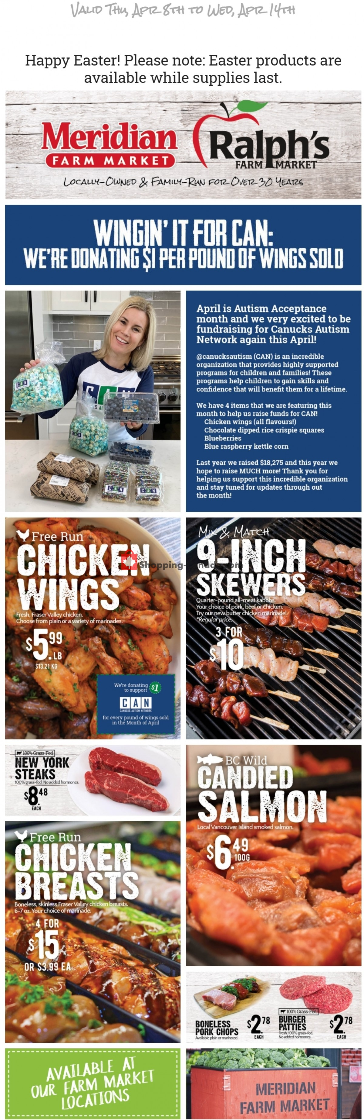 Flyer Meridian Meats & Meridian Farm Market Canada - from Thursday April 8, 2021 to Wednesday April 14, 2021