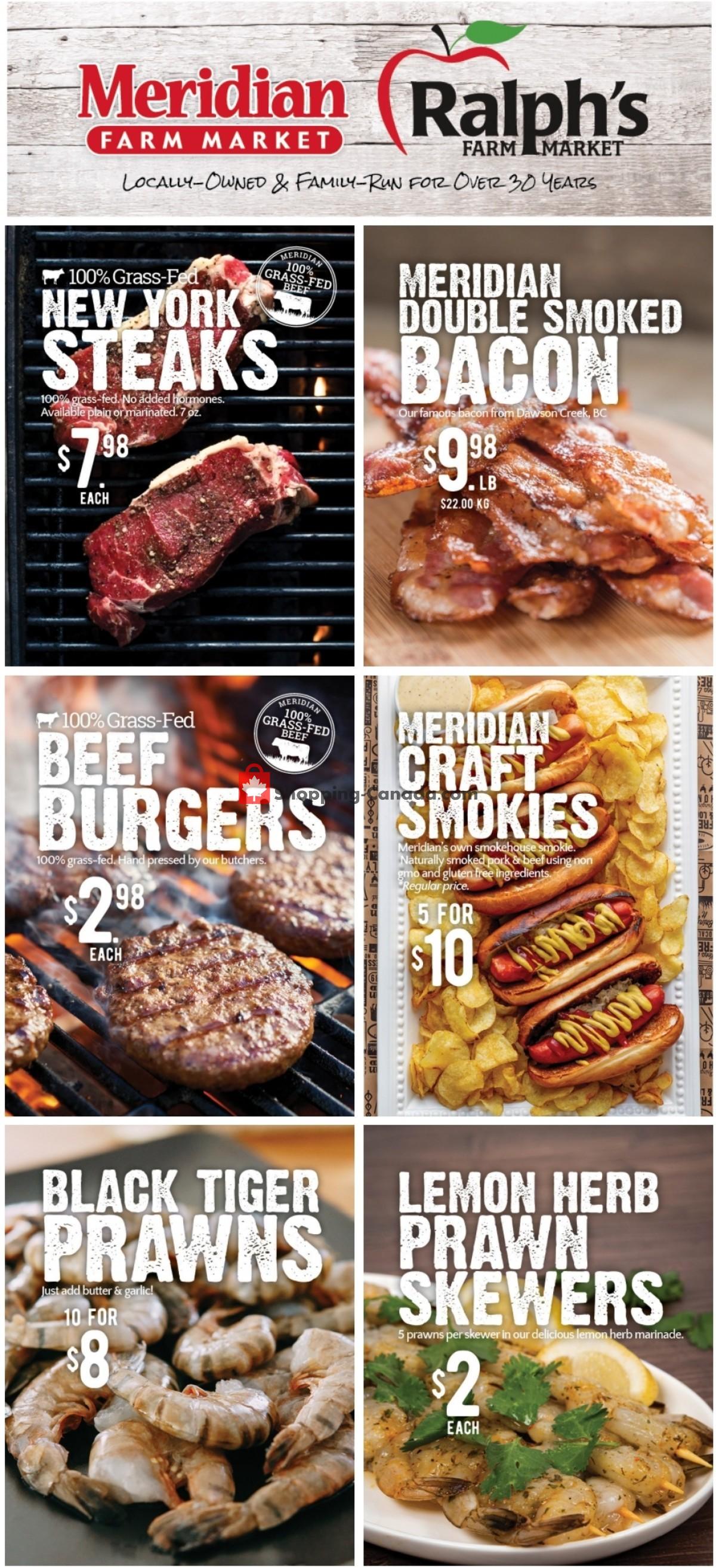 Flyer Meridian Meats & Meridian Farm Market Canada - from Thursday September 2, 2021 to Wednesday September 8, 2021