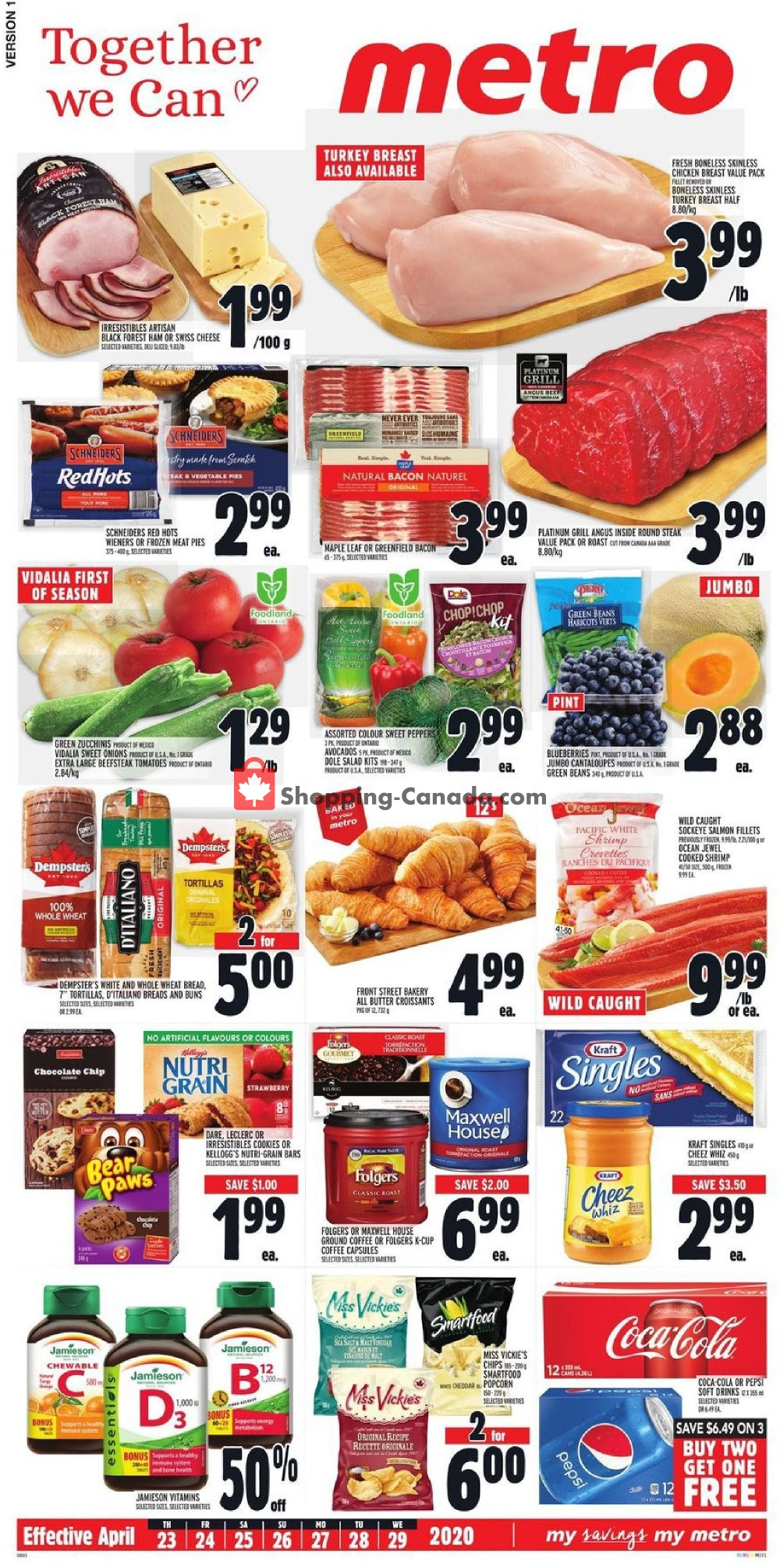 Flyer Metro Canada - from Thursday April 23, 2020 to Wednesday April 29, 2020